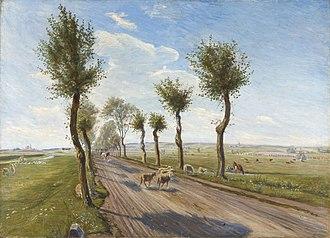 Odsherred Painters - Theodor Philipsen: Landevej ved Faarevejle (1900)