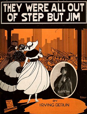 """They Were All Out of Step But Jim - Sheet music cover for """"They Were All Out of Step But Jim"""""""