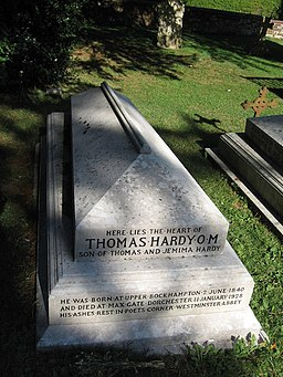 Thomas Hardy's grave, Stinsford churchyard - geograph.org.uk - 336325