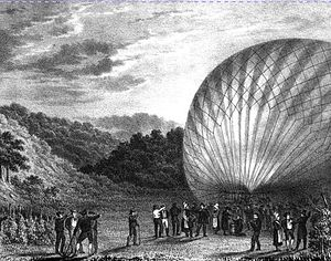 Thomas Monck Mason - The balloon in the valley of Elbern after landing