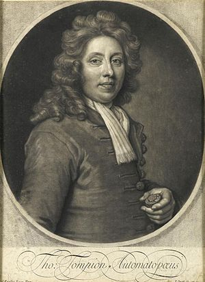 Thomas Tompion - Engraving of Thomas Tompion by John Smith, after a portrait by Sir Godfrey Kneller