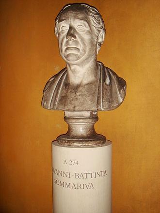 Giovanni Battista Sommariva - Bust of G.B. Sommariva by  Bertel Thorvaldsen, 1817