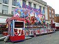 Thurston's Daredevil fairground ride Enfield market Place.jpg