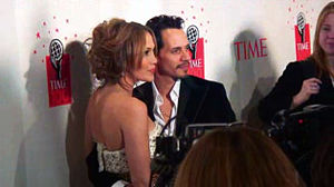 Lopez and Marc Anthony at the 2006 Time 100 gala event.
