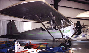 Timm Collegiate - Timm M-150 Collegiate NC337 on display in the Historic Aircraft Restoration Museum at Dauster Field, Creve Coeur, near St Louis Missouri in June 2006.