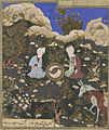 Timurid Dynasty, The Prophet Elias and Khadir at the Fountain of Life, late 15th century.jpg