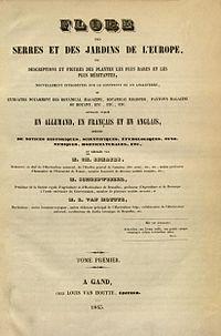 Titelblatt Flore des serres Tome 1.jpg