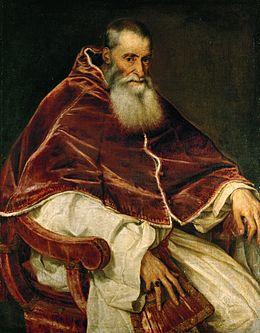 Προσωπογραφία του Πάπα Παύλου Γ', 1543, 108 × 80 εκ., Galleria Nazionale di Capodimonte