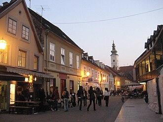 Tkalčićeva Street - Tkalčićeva Street at night