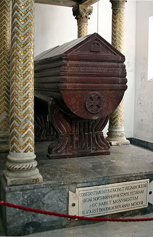 Constance, Queen of Sicily - Constance's grave, in the Cathedral of Palermo.