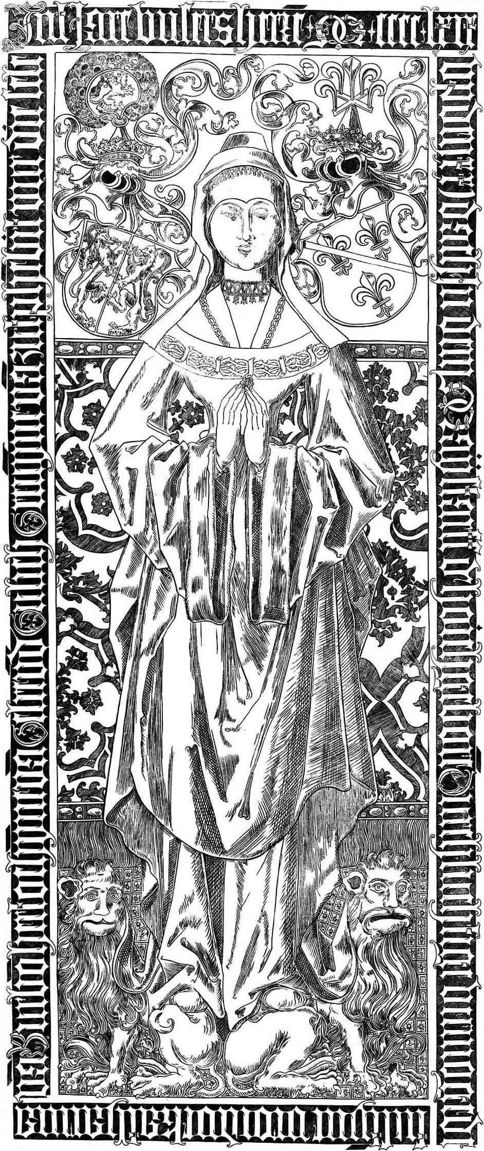Tombstone Catherine of Bourbon