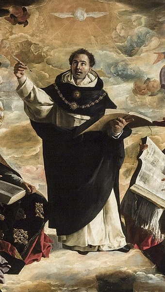 Detail of The Apotheosis of Saint Thomas Aquinas by Francisco de Zurbarán, 1631