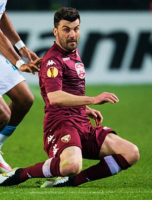 Cesare Bovo - Bovo in action during Torino–Zenit, 19 March 2015