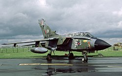 Panavia Tornado GR1 of No. 17 squadron which was based at Brüggen.