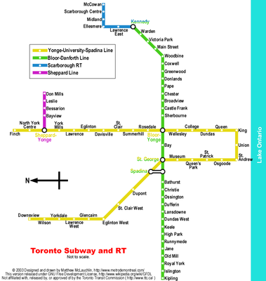 The Toronto RT Map.