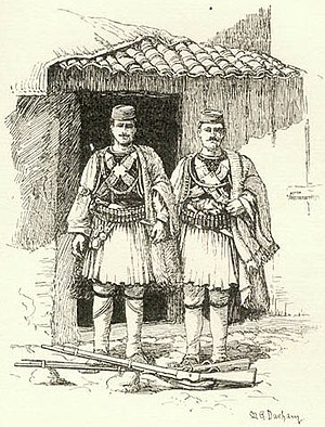Tosks - Tosks in their traditional costumes