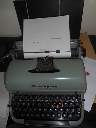"Remington Rand - A Remington ""Quiet-Riter"" made for the British domestic market in the late 1950s"