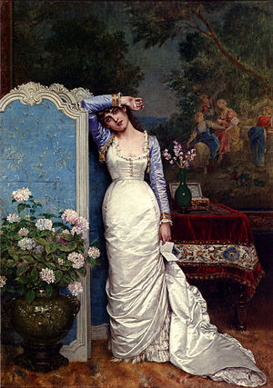 Auguste Toulmouche - Image: Toulmouche young woman in an interior