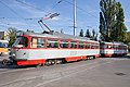 Tram in Sofia in front of Tram depot Banishora 013.jpg