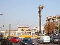 Tram in Sofia near Sofia statue 2012 PD 008.jpg