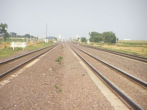 TransContinental Railroad east of Lexington Nebraska