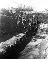 Trench, periscope, helmet, First World War Fortepan 62718.jpg