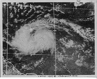 1970 Atlantic hurricane season - Image: Tropical Storm Dorothy (1970)