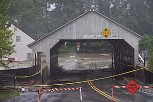 Peter Shumlin - Image: Tropical Storm Irene Flood Bridge at Quechee Vermont 2011 08 28