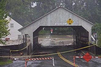 Peter Shumlin - Image: Tropical Storm Irene Flood Bridge at Quechee Vermont 2011 08 28