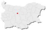 Map of Bulgaria, position of Trojan highlighted