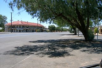 Trundle, New South Wales - Trundle main street, with a view of the Trundle Hotel, as seen from the Post Office