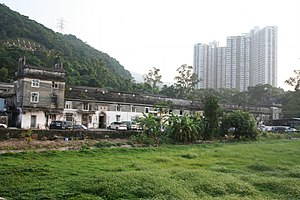 Walled villages of Hong Kong - External view of Tsang Tai Uk.