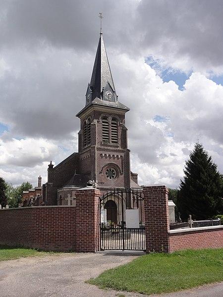 Tugny-et-Pont (Aisne) église Sainte-Eulalie-et-Saint-Aubert