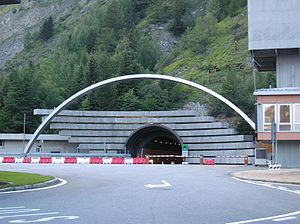 Mont Blanc Tunnel - Mont Blanc Tunnel in Italy
