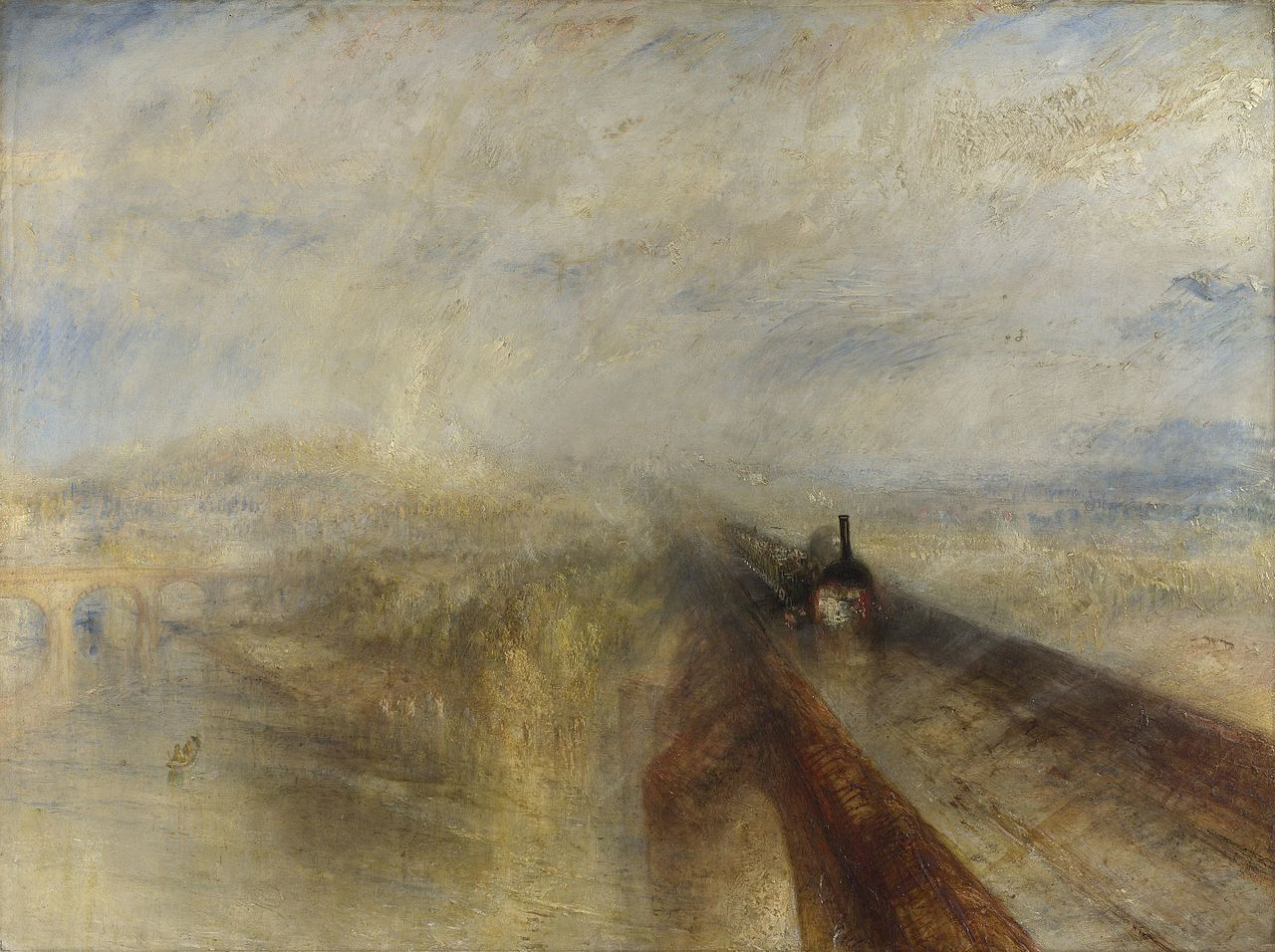 an analysis of rain steam and speed the great western railway a painting by j m w turner From restoration to revolution, 1815-1848 his painting rain, steam, speed—the great western railway c j m w turner, rain, steam, speed—the great.