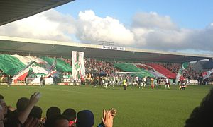 Cork City F.C. - Image: Turners Cross Stadium Shed End Cork City v Dundalk 24 April 2015 1