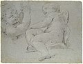 Two Putti Supporting the Lower Part of a Draped Figure (recto); Two Putti (verso) MET 1985.158.2 VERSO.jpg