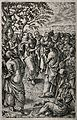 Two crippled men come to Christ and the apostles. Engraving Wellcome V0034905.jpg