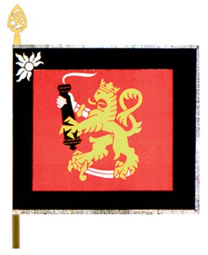 Coat of arms of Finland - Image: Tyk Pr lippu