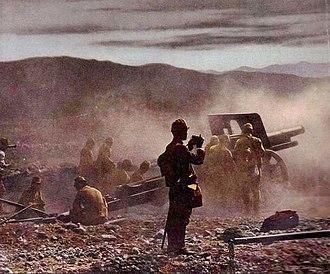 Type 4 15 cm howitzer - A Type 4 15-cm-howitzer, China 1937