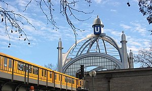 Berlin U-Bahn - Train entering Nollendorfplatz, one of the original stations of the Berlin U-Bahn