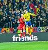 UEFA EURO qualifiers Sweden vs Romaina 20190323 Viktor Claesson and Nicusor Bancu.jpg