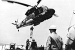 UH-2C Seasprite of HC-1 over USS Black (DD-666) in March 1969 (NNAM.2011.113.225).jpg