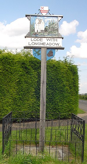 Lode, Cambridgeshire - Signpost in Lode