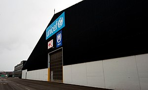 UNICEF - One of the gates to the old UNICEF World Warehouse