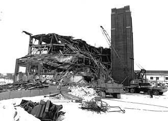 United States Rubber Company - The Saint-Jérôme facility during demolition in 1994