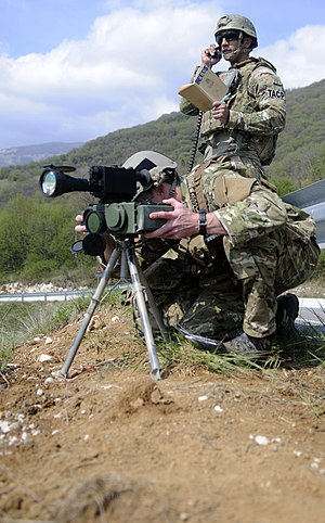 AN/PEQ-1 SOFLAM - USAF Tactical Air Control Party operators using a SOFLAM during training at Aviano Air Base, Italy in 2012