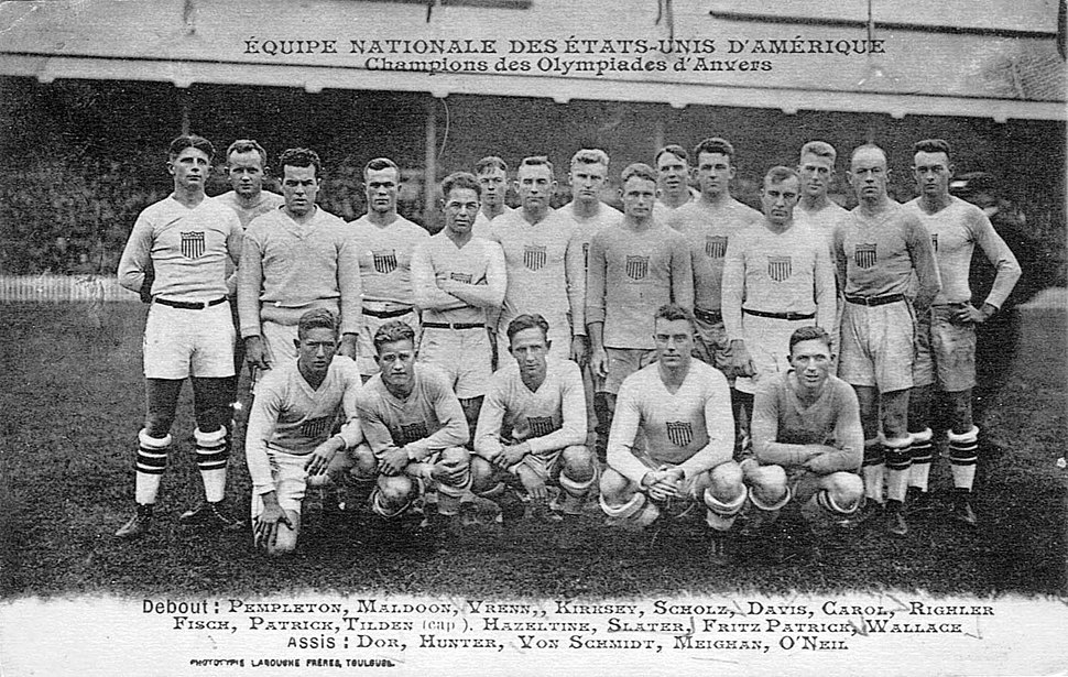 USA rugby team for the october 1920 test match vs France