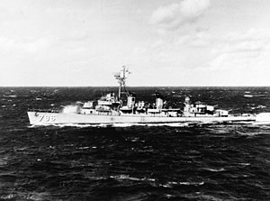 USS Benham (DD-796) underway at sea, circa in 1959 (NH 103756).jpg