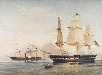 USS Congress & USS Susquehanna at Naples